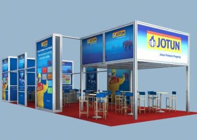 exhibition stand design Jotun Paints Kormarine Busan South Korea