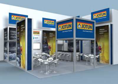 Exhibition stand for Jotun Paints at OTC Houston